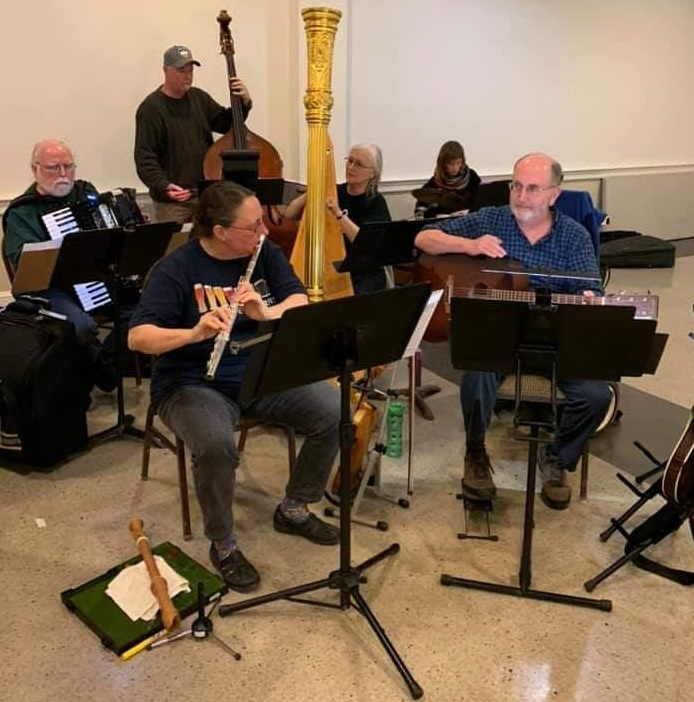 Wild Notes rehearse for the 2020 concert of Celtic Fire